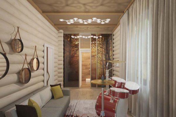 Дизайн интерьера деревянного дома