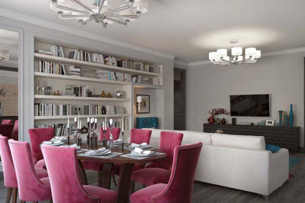 Дизайн интерьера квартиры 80м2