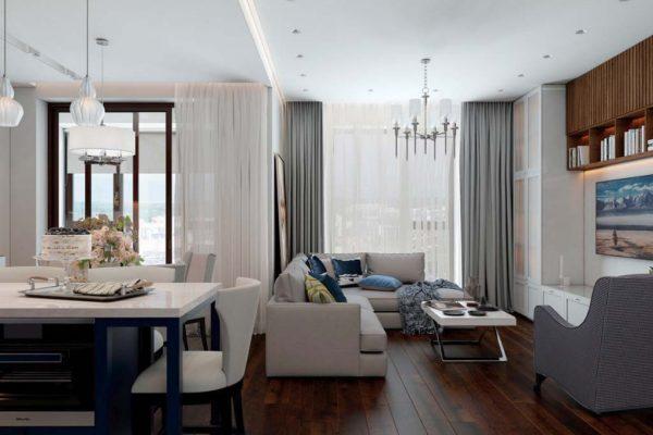 Дизайн проект квартиры 107м2