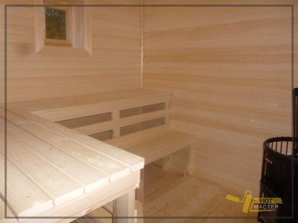 Каркасная баня 24 м2