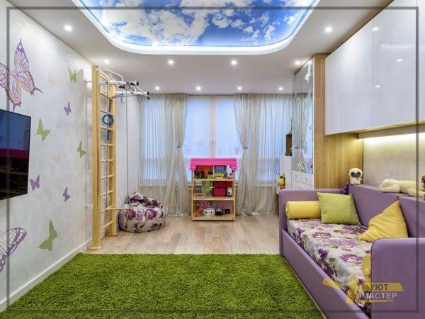 Ремонт детской комнаты 26 м2