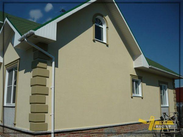 Наружная отделка дома 210 м2