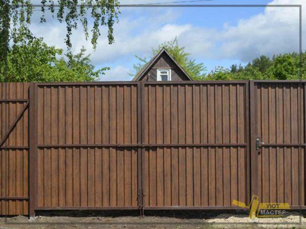 Забор из профнастила 60 мп