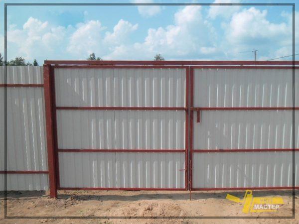 Забор из профнастила 30 пм