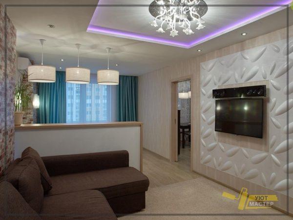 Отделка квартиры 54 м2