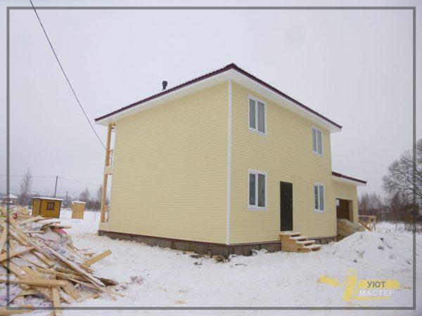 Каркасный дом 72 м2
