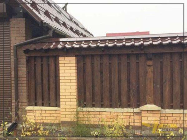 Деревянный забор 15 мп