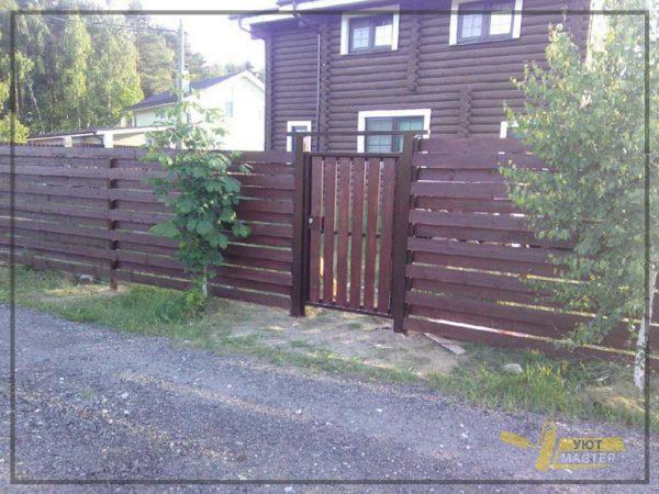 Деревянный забор 60 мп